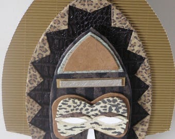 African mask made of cardboard