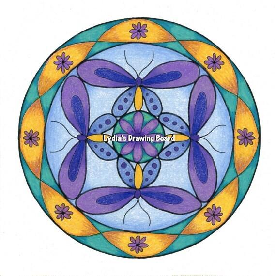 Mandala Art, Mandala Wall Art, Mandala Print, Butterfly, Butterfly Art, Nature, Nature Art, Butterfly Art Print, Butterfly Artwork, Mandala