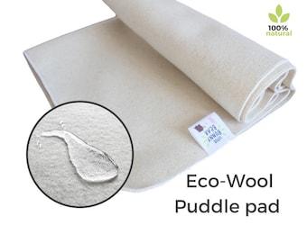 Wool puddle pad, Natural mattress protector, seat, wool mattress protector, wool puddle pad, elimination communication, piddle pad