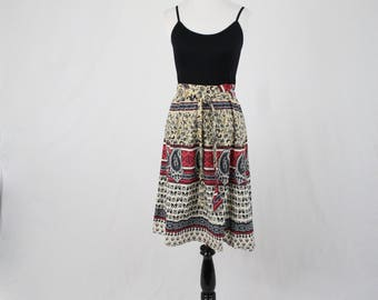 India Cotton A Line Skirt