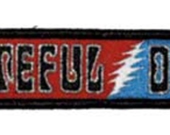 """Grateful Dead 60'S Logo Iron On Patch 5"""" x 1"""" Officially Licensed by C&D Visionary P1350"""