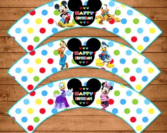 Mickey Mouse Food Tents Dots Chevron Mickey Mouse Clubhouse