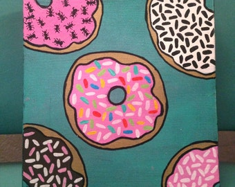 Anthropodonut 8x8 donut painting