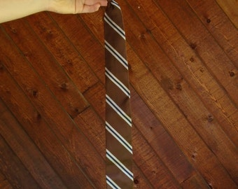Striped 60s Clip On Neck Tie - Vintage