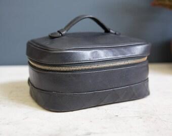 Rectangular Vintage Chanel Vanity Case Italy 1986