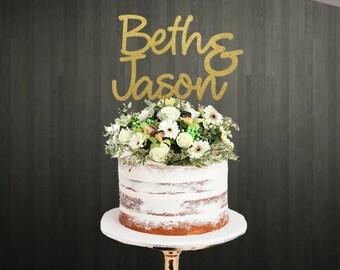 Cake Topper / Engagement Cake Topper / Wedding Cake Topper / Names Cake Topper / Personalised Cake Topper / Custom Made Cake Topper