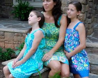 One Hour Sundress/CoverUp PDF Pattern Sizes 6mths to Misses 10