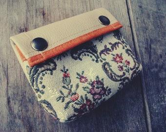 Handmade Vegan Portemonnaie Taschenorganizer Kosmetiktasche
