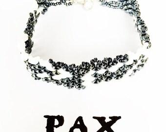 Ghost Snakeskin Beaded Bracelet