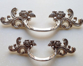 drawer pulls for furniture. Shabby Chic Bail Dresser Drawer Pulls Handles / Antique Silver Drop Kitchen Cabinet Pull Handle Knobs For Furniture