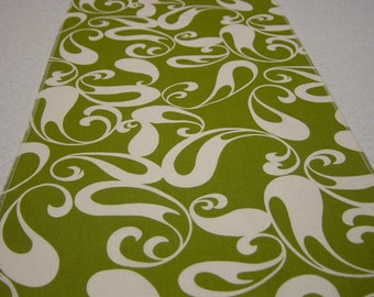 ON SALE NOW - Chartreuse Table Runner with Ivory Tear Drops