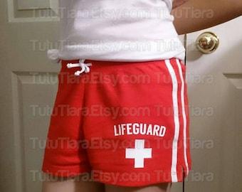 DIY Lifeguard Shirt, Shorts, Red or White Vinyl Iron-On Applique