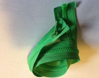 "Open end 50cm (19-20"") zipper, green"