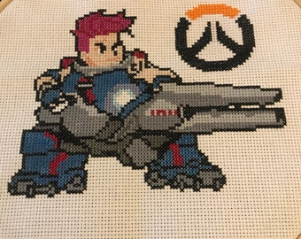 Zarya Framed Cross Stitch