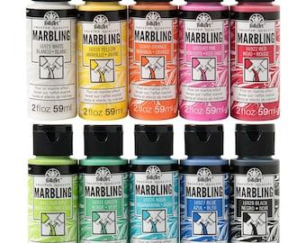 FolkArt Marbling Paint Set, 10 colors