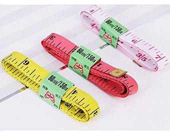 "GOELX Pack Of 3 X 1.5 Meter (60"" Inch) Sewing Tailor Measuring Ruler Tape"