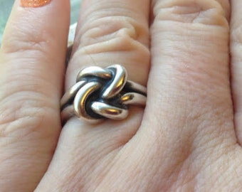 Retired James Avery Sterling Silver 925 Love Lovers Knot Ring Size 6