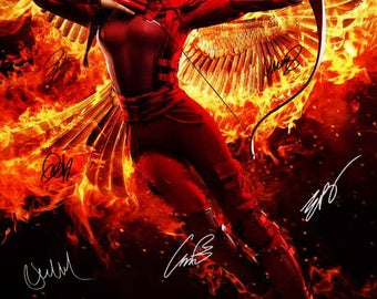 "Signed ""THE HUNGER GAMES: MockingJay - Part 2 "" Movie Poster"