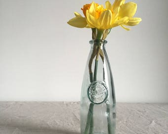 Recycled Glass Milk Bottle