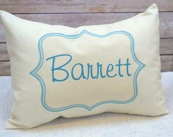 Personalized pillow, baby gift, boys pillow,Children's pillow, Newborn gift, name pillow, teal personalized pillow  Custom pillow, baby name
