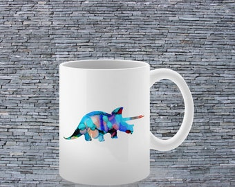 Colorful Mug - Tea Mug - Coffee Mug - Printed Mug - Ceramic Mug - Dinosaurus Mug
