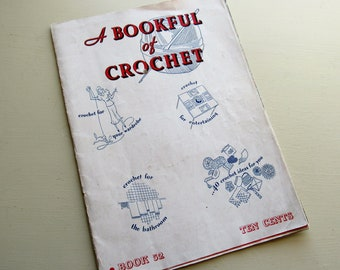 vintage a bookful of crochet book