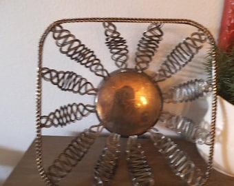 vintage Silverplate Bowl ~ sunburst design ~