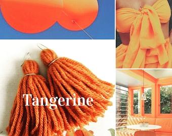 Tangerine Jade Tassels