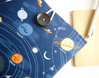 """13"""" Chromebook Laptop Sleeve 11 inch Microsoft Surface Pro 4, Padded Custom Size Laptop Cover - Planets"""