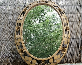 Antique mirror ornamented/ornate antique mirror