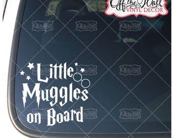 "Harry Potter Inspired ""Little Muggles on Board"" Vinyl Car/Truck Decal Sticker"