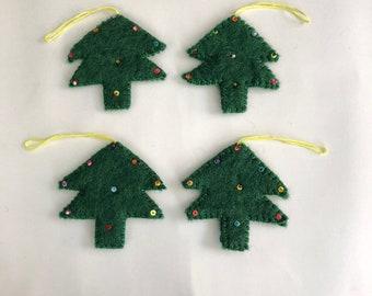 Christmas decorations, christmas ornamanets, felt tree, christmas tree, hand made felt tree