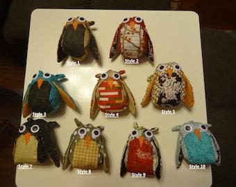 Handmade Patchwork Owl