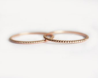 Wedding Ring, Simple Ring, Beaded Ring, Dainty Ring, 18k Gold Ring, 14k Gold Ring, Thin Wedding Band, Stacking Ring, Stack Ring