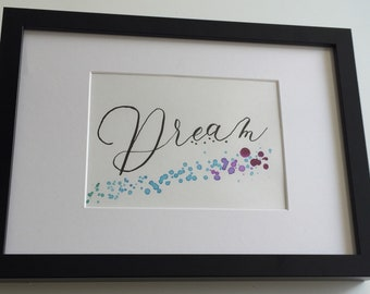 """""""Dream"""" #2 painting done with watercolor and ink"""