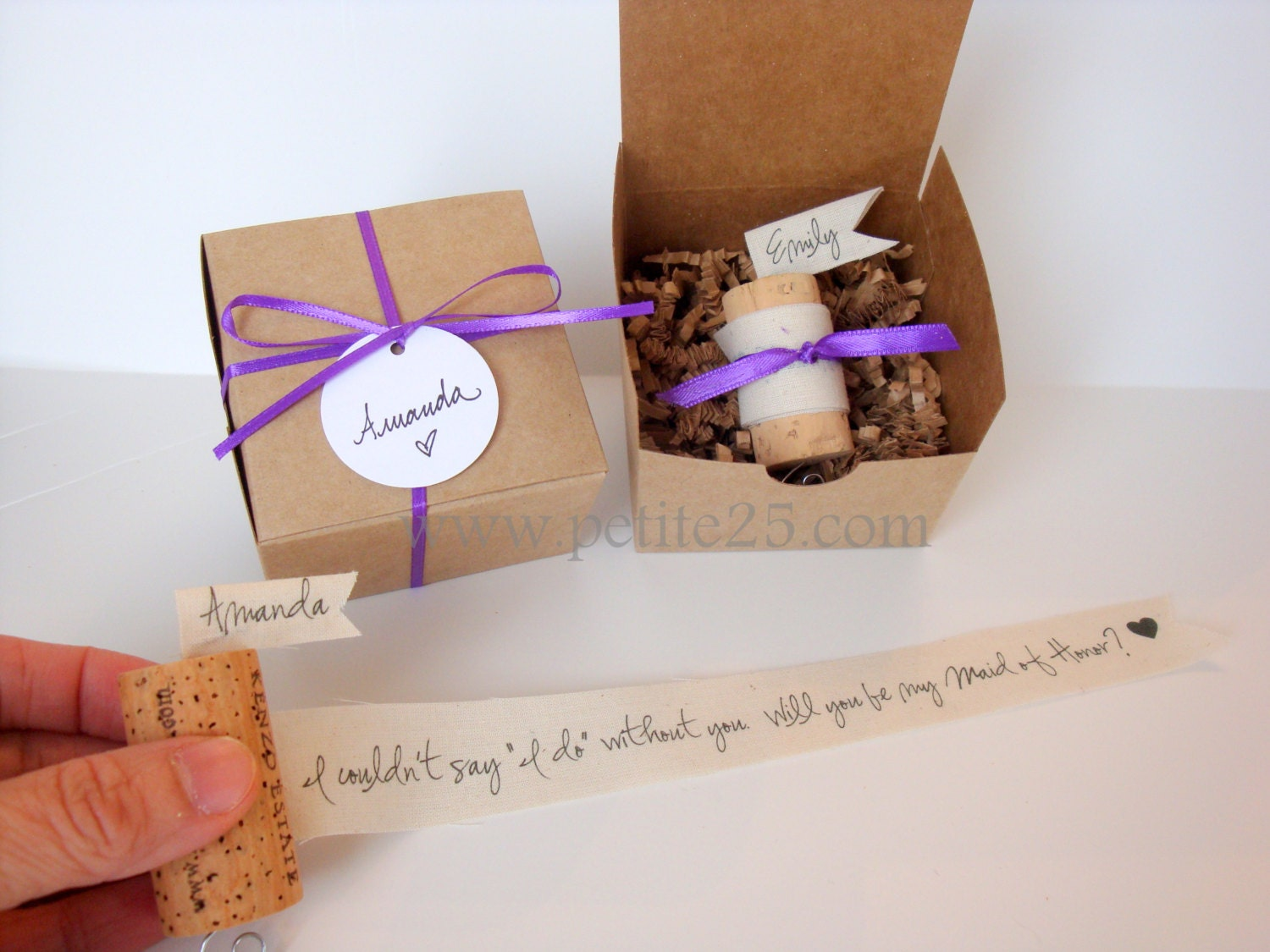 One 1 Wine Cork Bridesmaid Proposal Will you be my