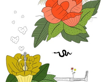 Peekaboo Flower Power Print