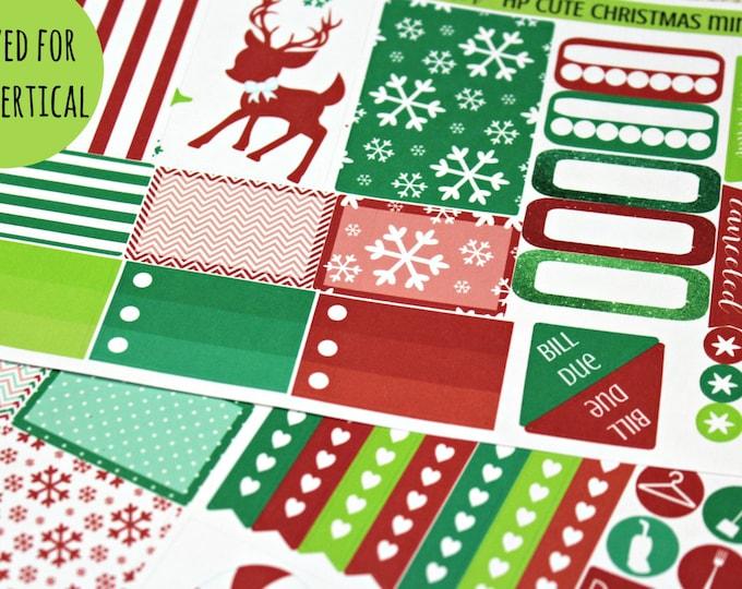 Planner Stickers - Weekly Planner stickers - Erin Condren Life Planner - Happy Planner - Day Designer- Cute Christmas Stickers