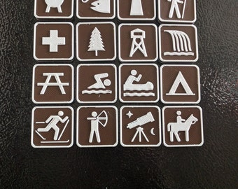 State Park and National Park Symbol Magnets