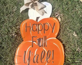 Stacked Pumpkin Book Page Art Halloween Thanksgiving