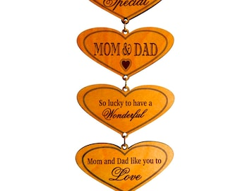 Gift for Mom and Dad - Gifts for Parents Personalized from Daughter-Son - Thank You Gift for Parents - Plaque