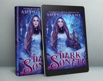 Gothic woman and violin premade cover design