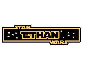 Custom Star Wars Name Tag Decal