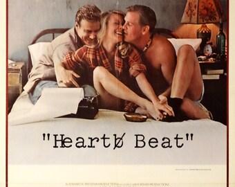 "HEART BEAT. Original 1980 US 27"" x 41"" Theater Movie Poster. Francesco Scavullo Art of Nick Nolte, Sissy Spacek, John Heard, Ray Sharkey."