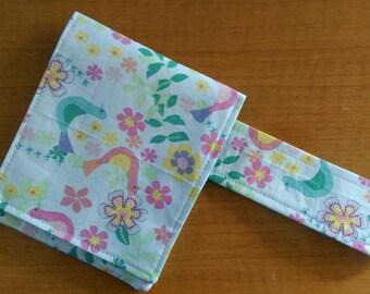 Travel Crochet Hook Case in Pastel Birds and Flowers