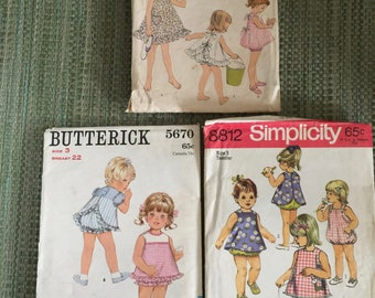 Vintage Child Size 2&3 Sewing Patterns from 1960's