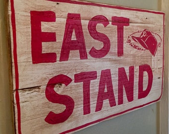 "Stadium Series: Philadelphia Phillies / Connie Mack Stadium ""East Stand"" Sign"