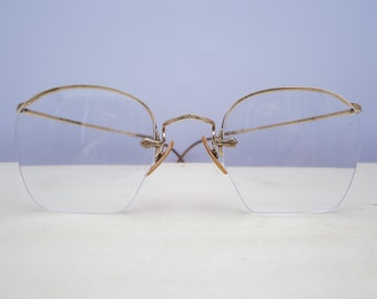 ANTIQUE EYEGLASSES, Pair of glasses, Eyewear frame, Wire rimmed, Rimless, Vintage, Spectacle, Costume, Accessory, Victorian, Optical lens