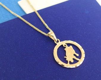 Gold Taurus Necklace - Taurus Necklace - Gold Taurus Pendant - Gold Zodiac Necklace - Gold Zodiac Pendant - Taurus Jewelry - Zodiac Jewelry