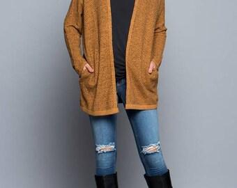 Marled Knit Sweater Cardigan!